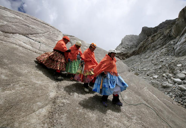 Women mountaineers, Bolivia.
