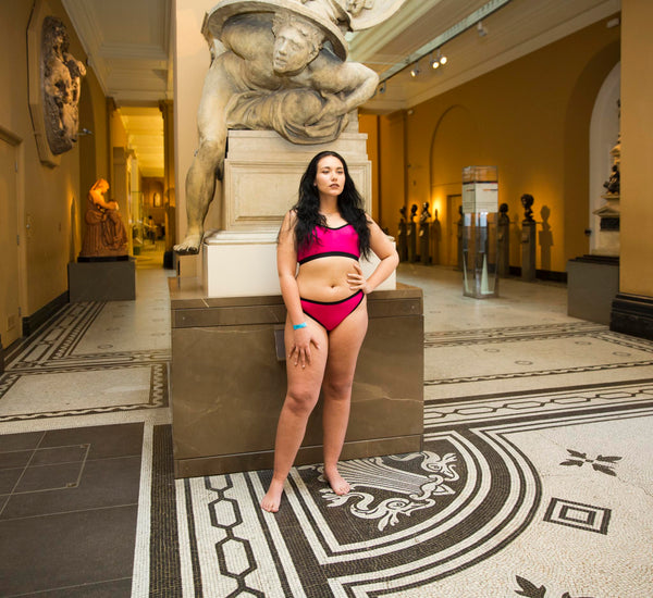 Neon Moon Model V&A Feminist Underwear Kitty