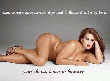 Pseudo body positive campaign real women have curves
