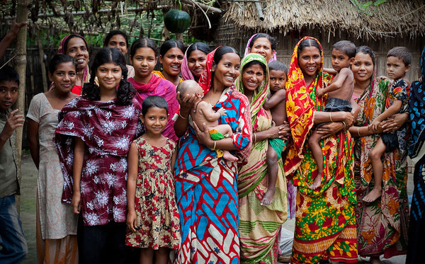 A group of Bangladeshi women.