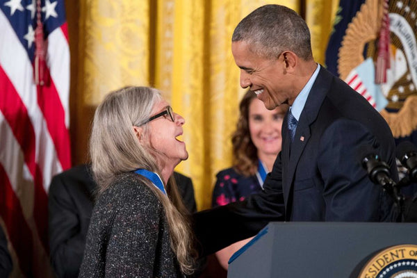 Margret Hamilton receiving her Medal of Freedom from President Obama.