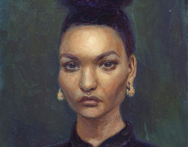 Portrait from the Bitchy Resting Face Project, by Mandy Tsung.