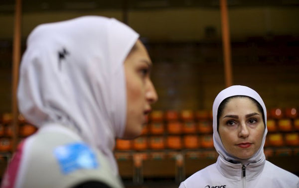 Two Iranian Volleyball players.