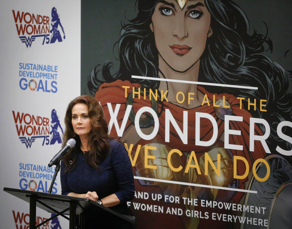 Announcement of Wonder Woman as a UN ambassador.