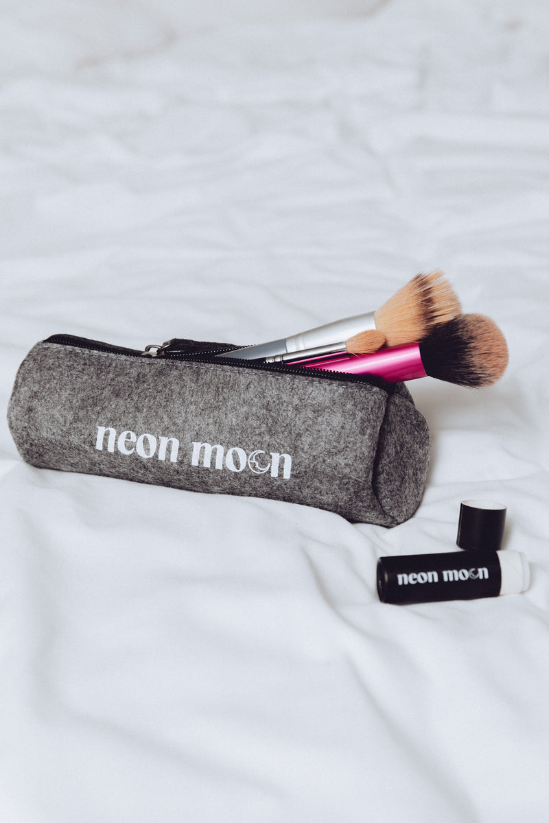 Grey Felt Neon Moon Pencil Case - available at neonmoon.co