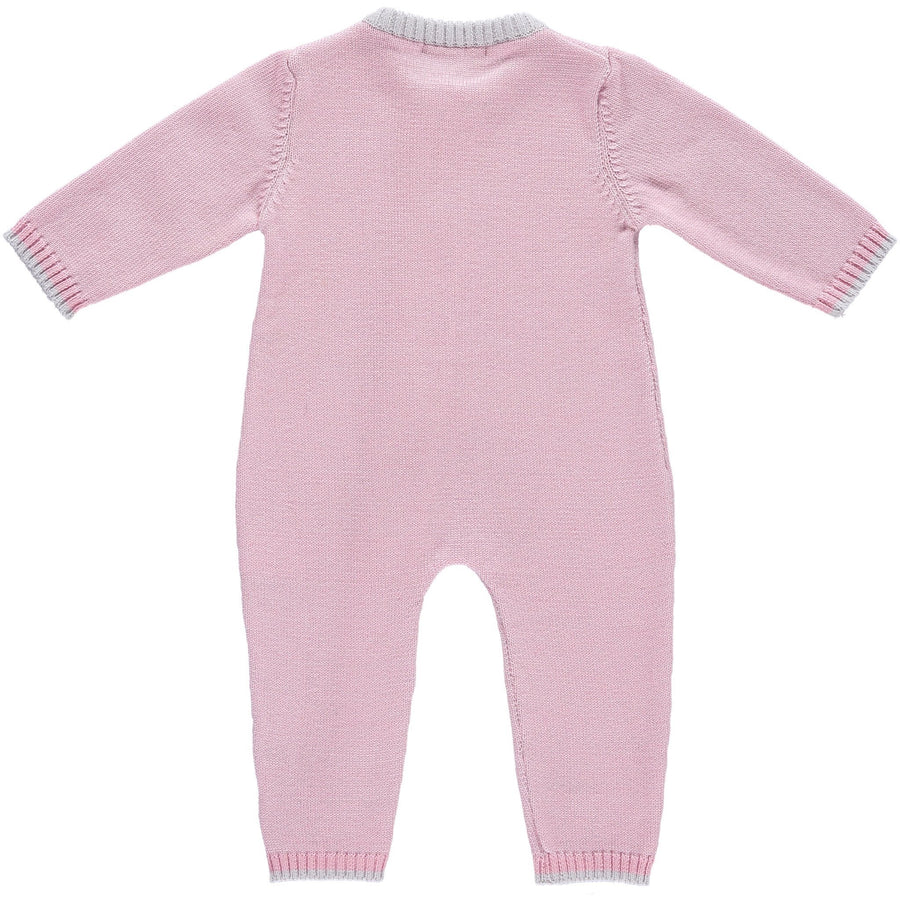 Merino Zip-Up Baby Daysuit - Rose - Scarlet Ribbon Merino