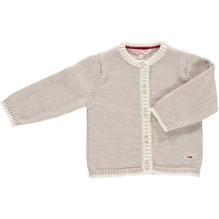 Merino Baby Cardigan & Leggings Set - Oatmeal - Scarlet Ribbon Merino