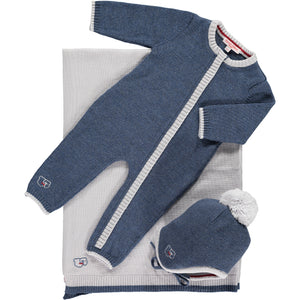 Scarlet Ribbon Baby Gift Set - Merino Daysuit - Denim - Scarlet Ribbon Merino