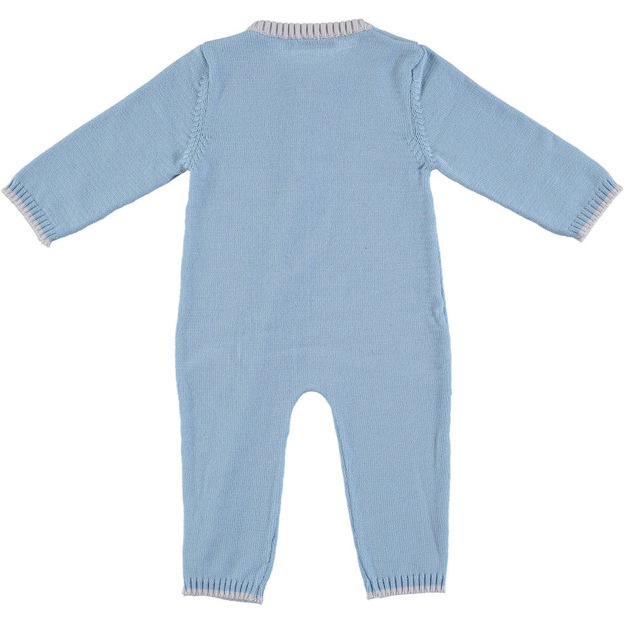 Merino Zip-Up Baby Daysuit - Beau Blue - Scarlet Ribbon Merino