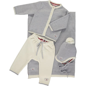 Scarlet Ribbon Baby Gift Set - Cardigan & Leggings, Mist - Scarlet Ribbon Merino