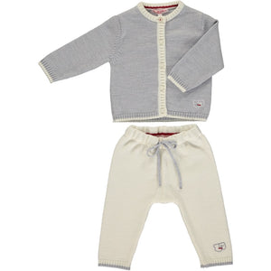 Merino Baby Cardigan & Leggings Set - Mist - Scarlet Ribbon Merino