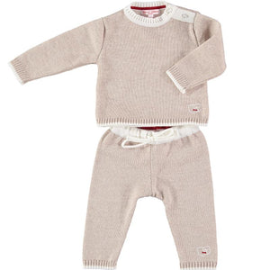 Merino Baby Sheep Motif Jumper & Leggings Set - Oatmeal - Scarlet Ribbon Merino