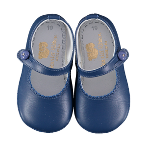 Soft Leather Baby 'Lucy' Shoes - French Navy - Scarlet Ribbon Merino