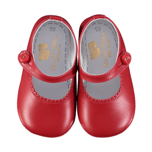 Soft Leather Baby 'Lucy' Shoes - Scarlet - Scarlet Ribbon Merino