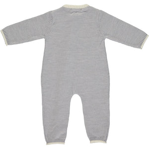 Merino Zip-Up Baby Daysuit - Mist