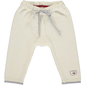 Merino Knitted Baby Leggings - White & Mist - Scarlet Ribbon Merino