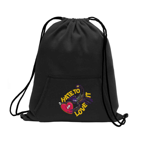 Hate to Love it Fleece Cinch Pack - KUTNHAUS