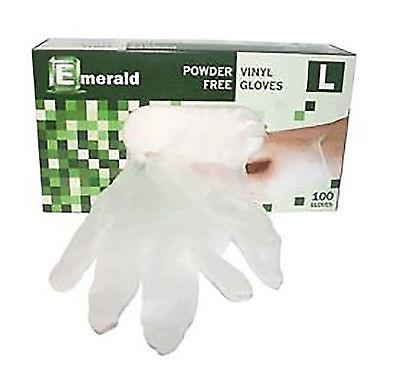 [100PCS]Emerald Shannon Powder-Free Vinyl Gloves – 4 Mil - KUTNHAUS