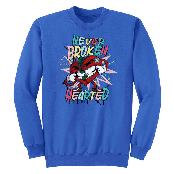 Never Broken Hearted Crewneck Fleece L/S - Kut'N Haus
