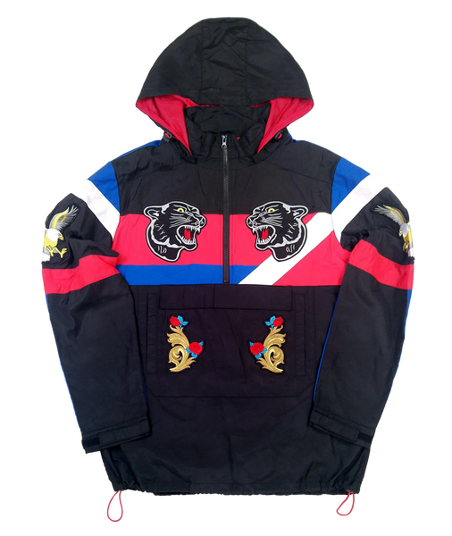 BLACK PANTHER PATCH COLOR BLOCK WINDBREAKER - Kut'N Haus