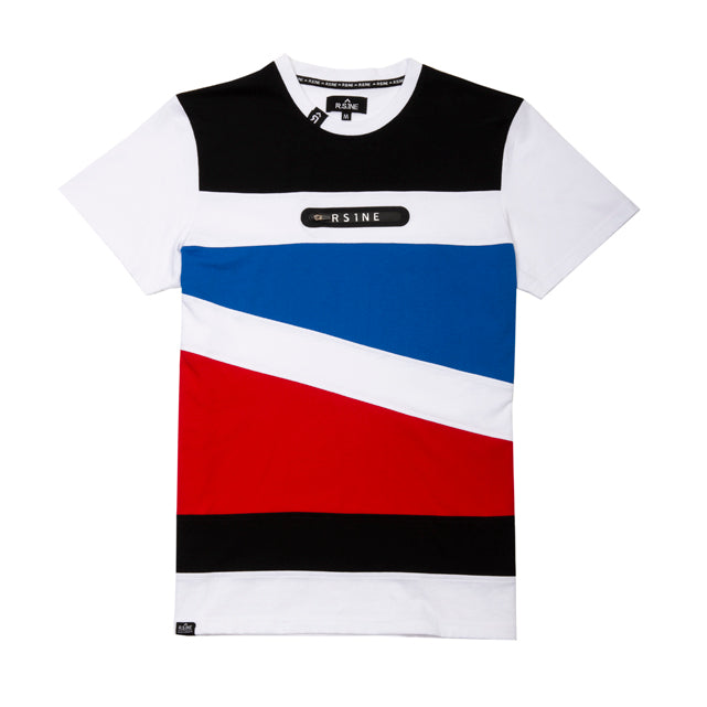 Diagonal Cut & Sew with Sealed Zipper Tee - RS1NEWYORK