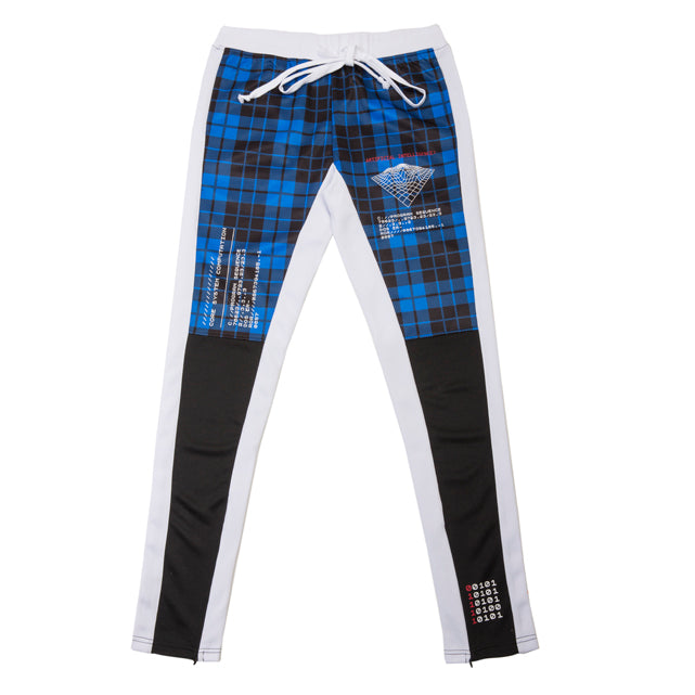 Human Error Coding Plaid Track Pants - RS1NEWYORK