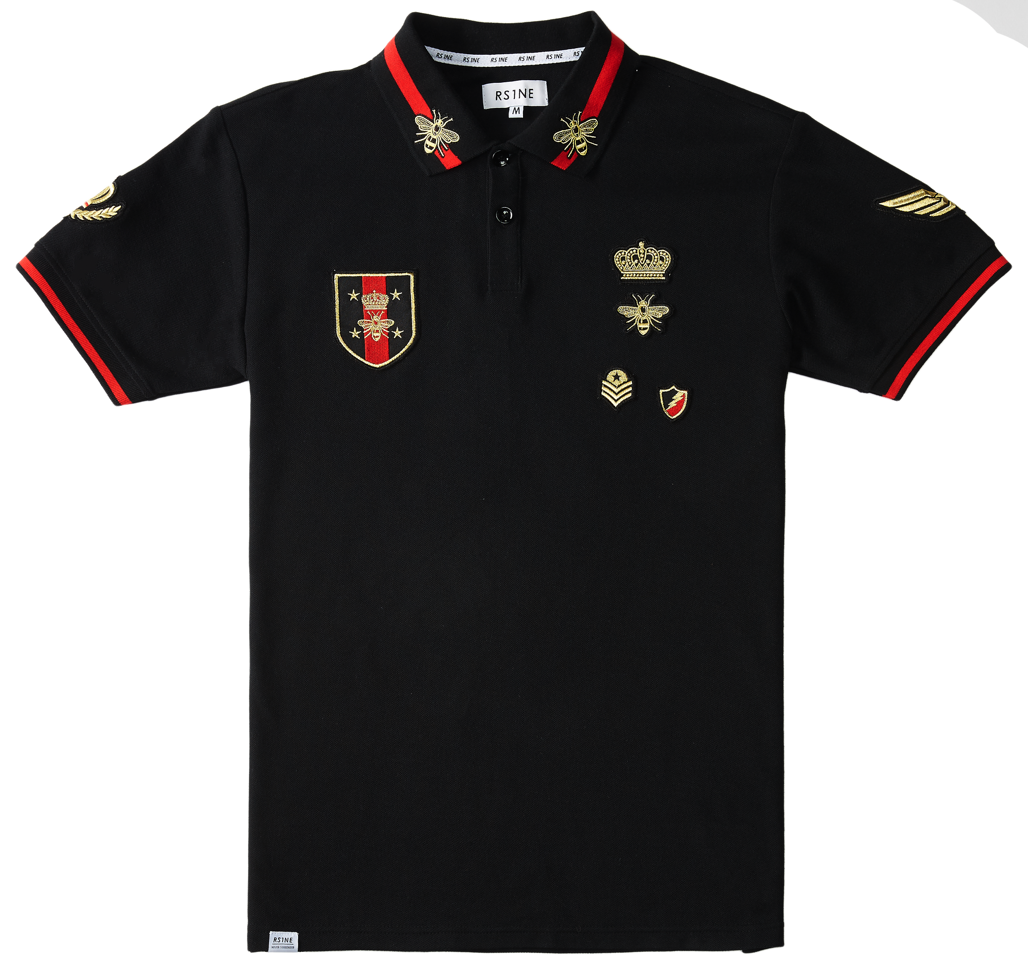Gold Lurex Patch Polo - RS1NEWYORK
