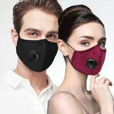 Air Valve Washable and Reusable Face Mask + 2 FREE FILTERS - KUTNHAUS
