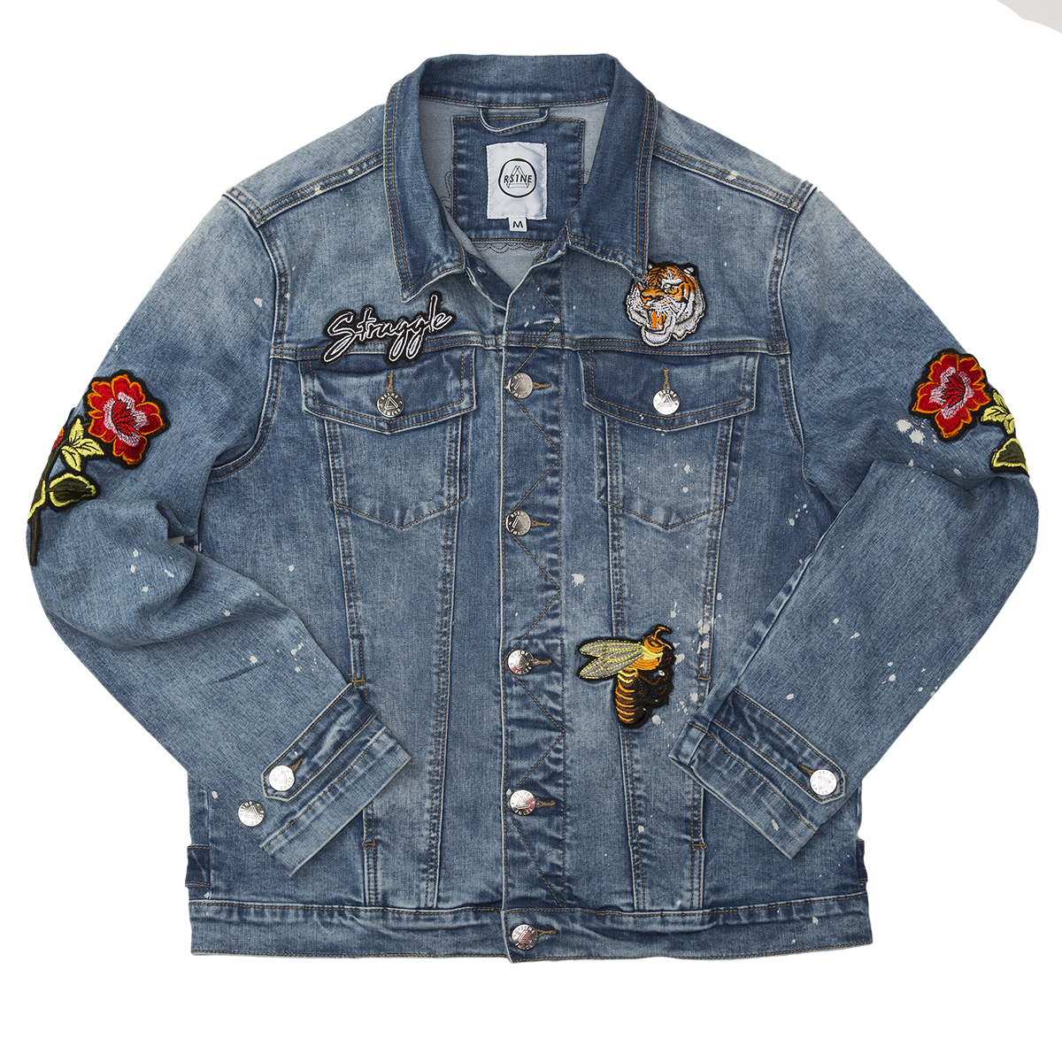 PATCHED DENIM JACKET - RS1NEWYORK