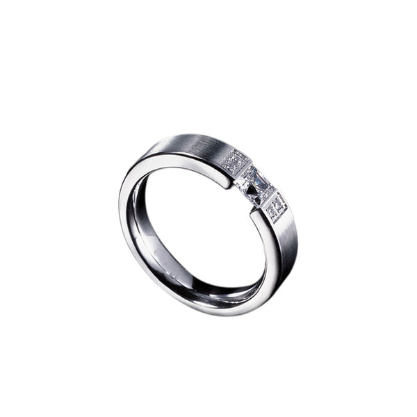 Stainless Steel Anniversary Ring