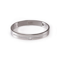 BG1010W B.Tiff Prosperity Stainless Steel Bangle Bracelet