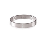 BG223W B.Tiff Pavé Row Stainless Steel Bangle Bracelet