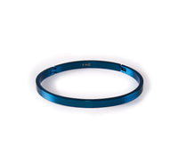 BG300BL B.Tiff Simplicity Narrow Blue Sapphire Stainless Steel Bangle Bracelet