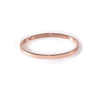 BG300RG B.Tiff Simplicity Narrow Rose Gold Plated Stainless Steel Bangle Bracelet