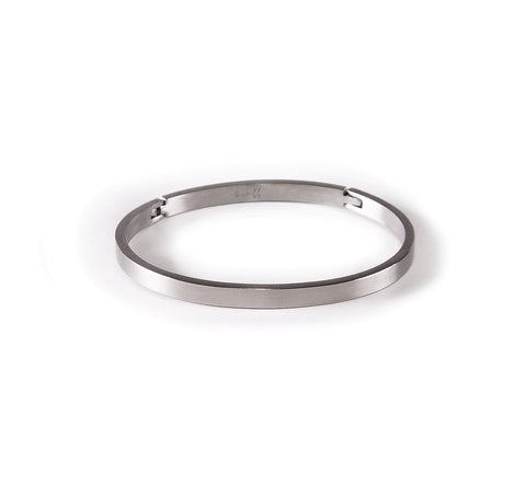 BG300W B.Tiff Matte Finished Stainless Steel Bangle Bracelet