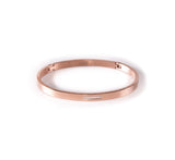 BG309W B.Tiff 9-Stone Pave Stainless Steel Bangle Bracelet