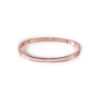 BG333G B.Tiff Eternity 25 Gold Plated Stainless Steel Bangle Bracelet