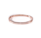 BG333RG B.Tiff Eternity 25 Rose Gold Plated Stainless Steel Bangle Bracelet