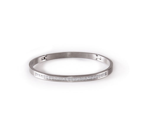 BG333W B.Tiff Half Eternity Bangle Bracelet