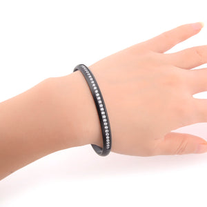 BG630B B.Tiff Eternity 30 Adjustable Black Anodized Stainless Steel Bangle Cuff