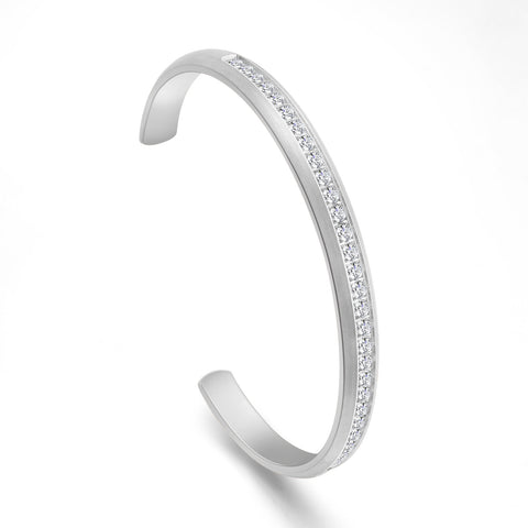 B.Tiff Eternity 30 Adjustable Stainless Steel Bangle Cuff