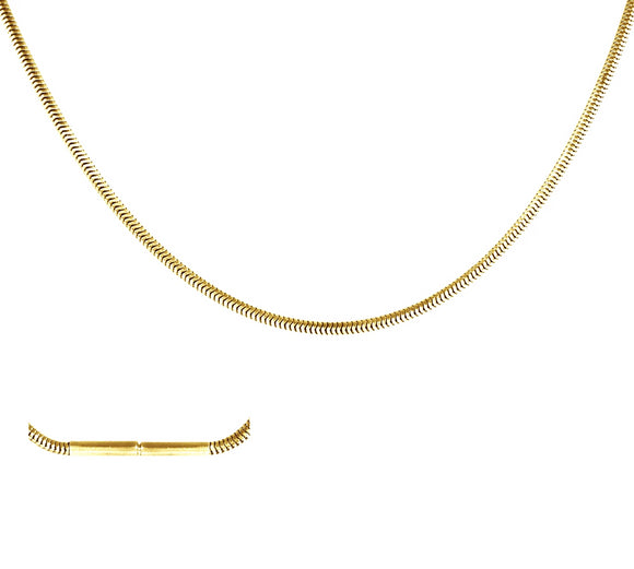 C030G B.Tiff Thin Gold Plated Stainless Steel Coil Chain Necklace