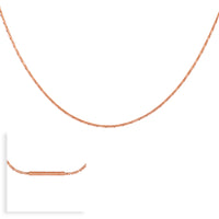 C031RG B.Tiff Diamond Cut Rose Gold Plated Stainless Steel Thin Chain Necklace