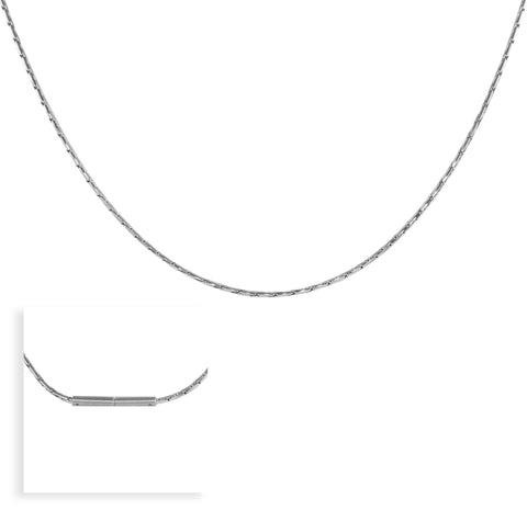 C031W B.Tiff Diamond Cut Stainless Steel Snake Necklace