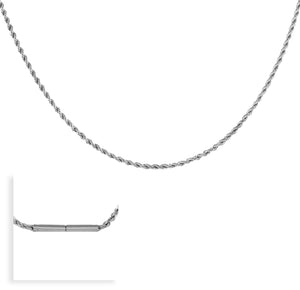 C061W B.Tiff Thick Diamond Cut Stainless Steel Chain Necklace