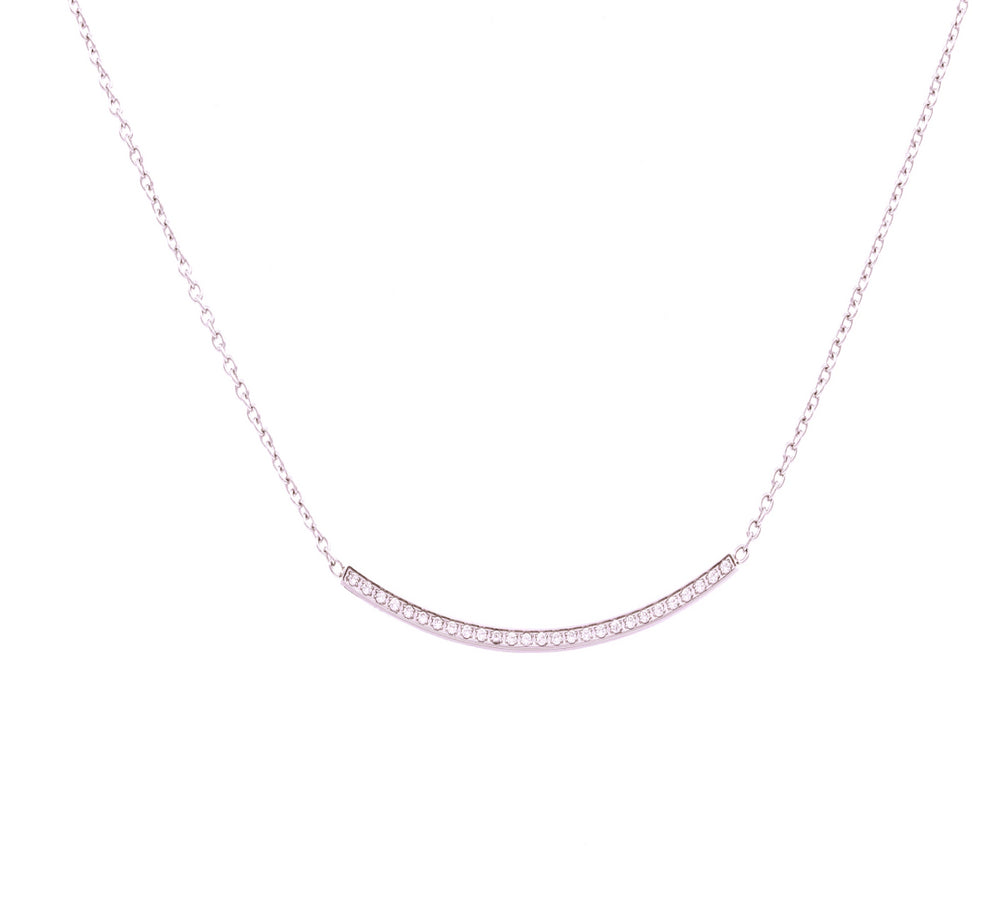 PT326RG B.Tiff Large Arch Rose Gold Plated Stainless Steel Adjustable Pendant Necklace