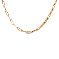 "CL630RG B.Tiff ""Jemma"" Flat Long Adjustable Link Rose Gold Plated Stainless Steel Necklace"