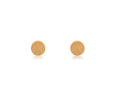 ER003B B.Tiff Plain Round Black Anodized Stainless Steel Stud Earrings