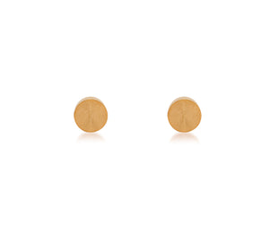 ER003W B.Tiff Plain Round Stainless Steel Stud Earrings