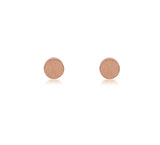 ER003RG B.Tiff Plain Round Rose Gold Plated Stainless Steel Stud Earrings